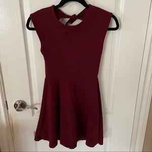 Deep Red/Burgundy Skater Dress